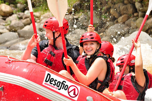 People enjoying whitewater rafting
