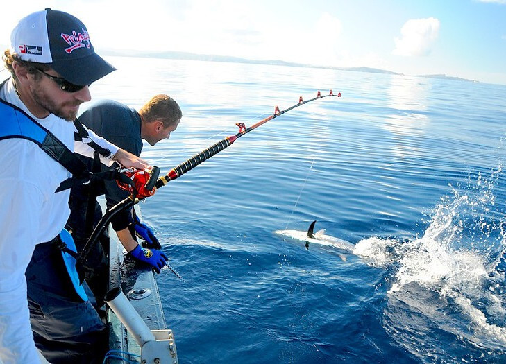 Fishermen With Tuna on the Line