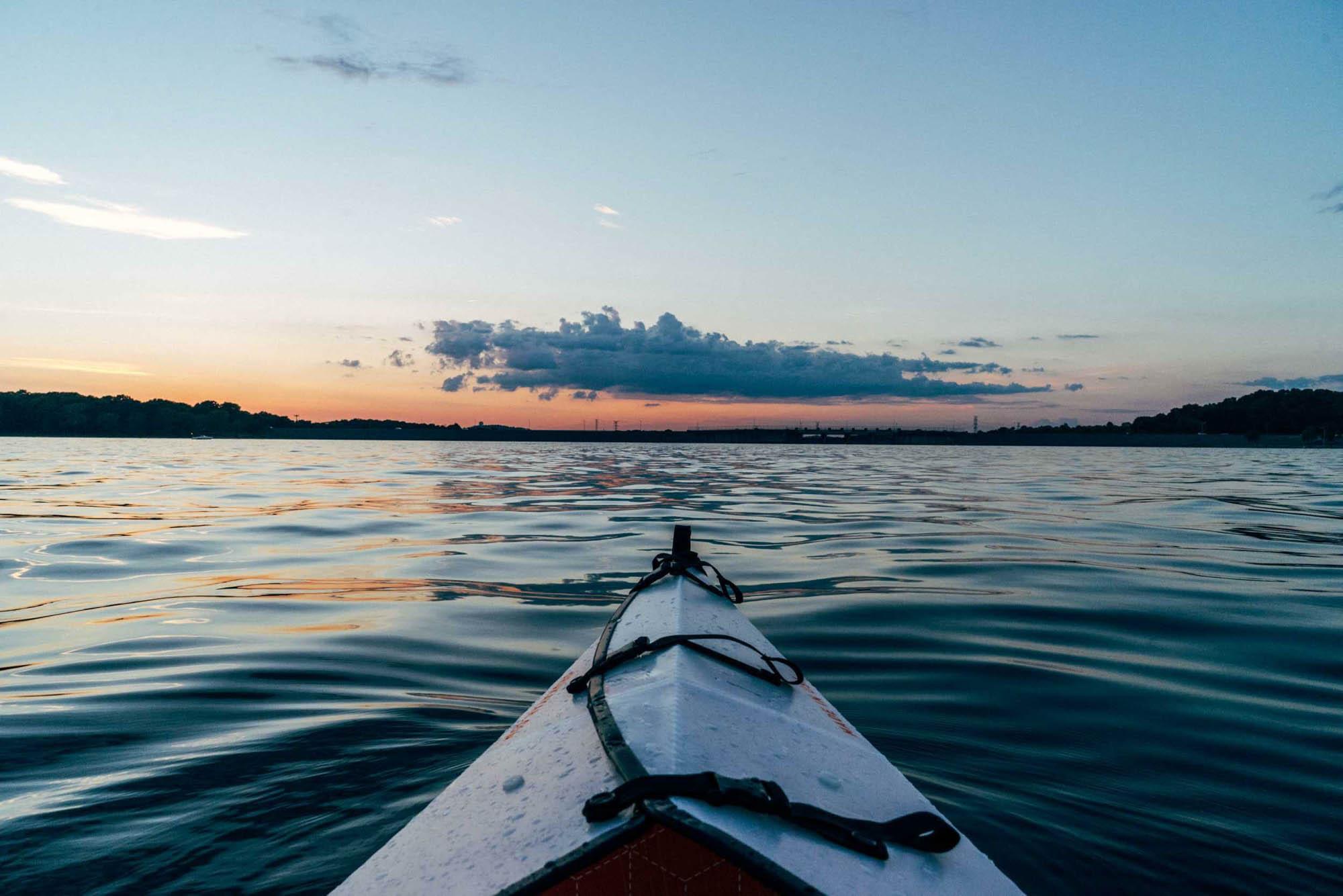 tour de kayak en el oceano